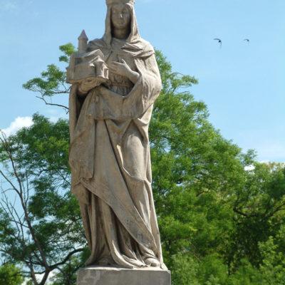 Statue der Heiligen Hedwig an der Brücke zur Dominsel
