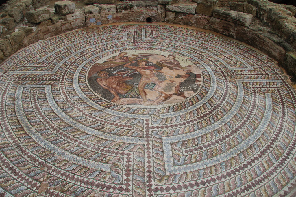 House of Theseus - Mosaic with Theseus