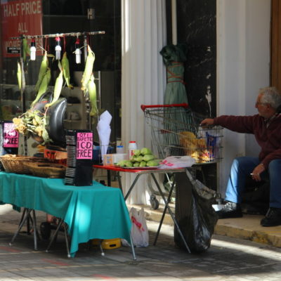 Maisverkäufer in Nikosia