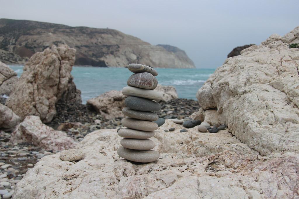 Steintürmchen bei Aphrodite's Rock