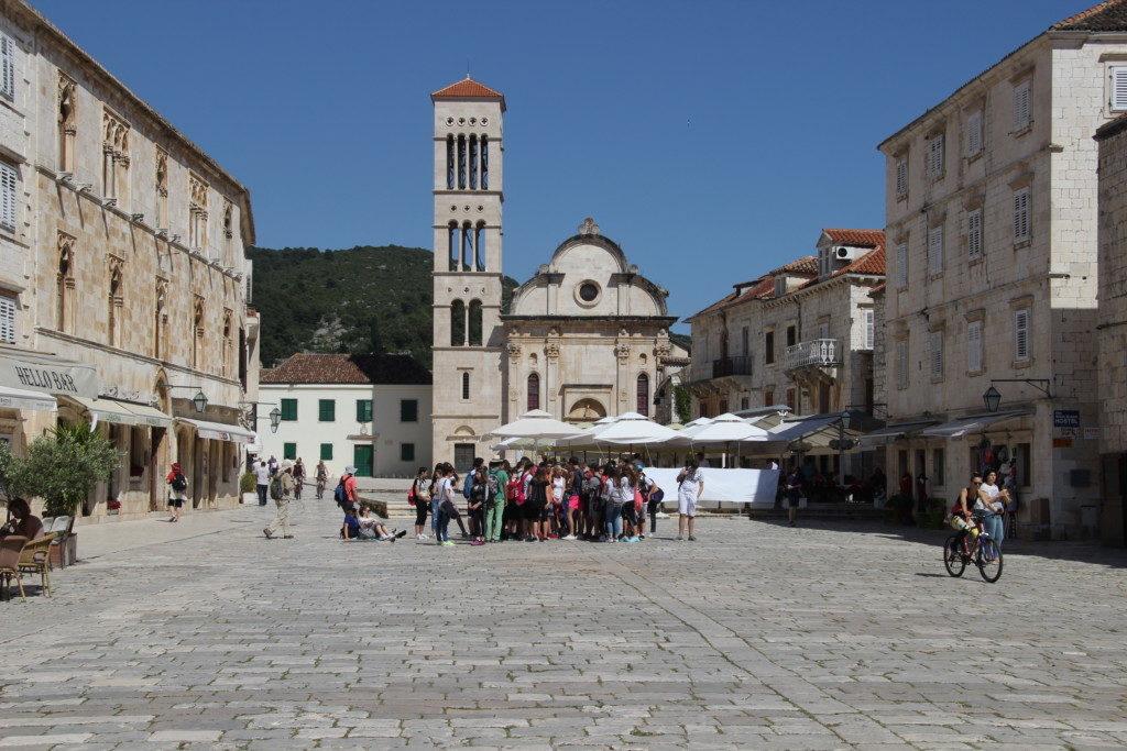 Kathedrale von St. Stephan am Hauptplatz in Hvar
