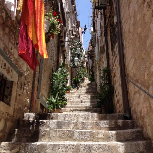 Steile Treppen in Dubrovnik